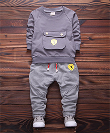 Pre Order - Dells World Winter Wear T-Shirt & Pant Set - Grey