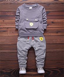 Dells World Winter Wear T-Shirt & Pant Set - Grey