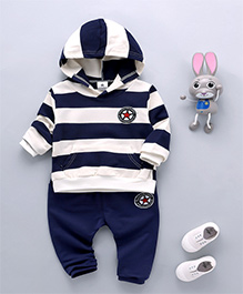 Pre Order - Dells World Winter Wear T-Shirt & Pant Set - Blue