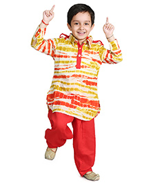 Little Pockets Store Pathani Set - Multicolor