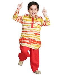 Little Pockets Store Pathani Set - Multicolor