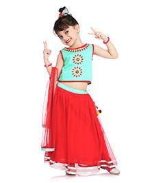 Little Pockets Store Lehenga Set - Red