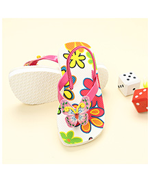 LCL Butterfly Motif Slippers - Pink