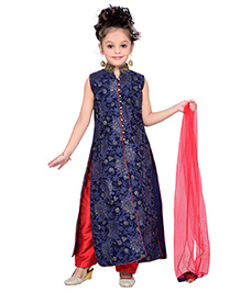 Enfance Floral Detailing Pretty Ethnic Set - Blue & Red