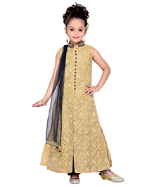 Enfance Princess Cut Occasionally Wear Kurta Set - Golden & Blue