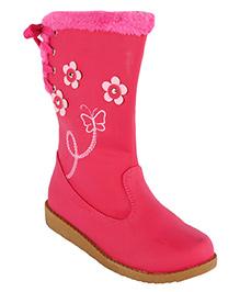 Cutecumber Embellished Stylish Boots - Fuchsia