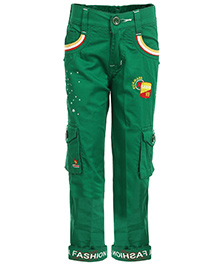 Benext Full Length Trousers With Embroidery - Green