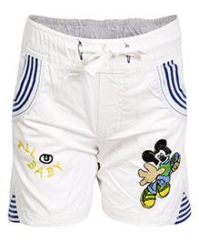Benext Basic Shorts Embroidered - White
