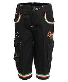 Benext Embroidered Capri - Black