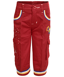Benext Embroidered Capri - Red