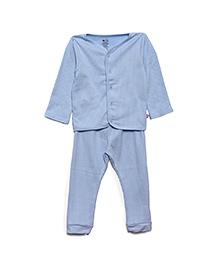 FS Mini Klub Full Sleeves Thermal Vest And Legging Set - Blue