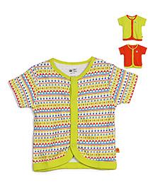 FS Mini Klub Half Sleeves Vest Pack Of 3 - Orange Yellow