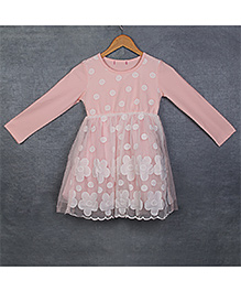 Pikaboo Full Sleeves Central Dress - Peach