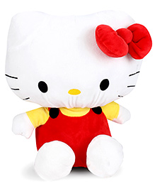 Hello Kitty Plush Soft Toy With Bow - White And Red