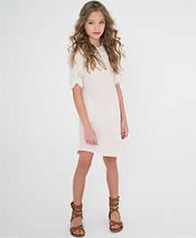 Yo Baby Button Front Shift Dress - White