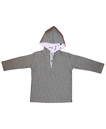 Kadambaby Star And Stripes Print Hoodie - Grey