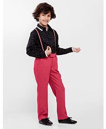 One Friday Polka Dots Printed Shirt - Black