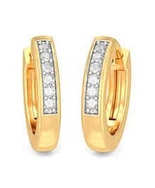 BlueStone 14kt Yellow Gold And Diamond Elica Earrings - Golden