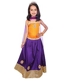 Bunchi Shimmery Lehnga Choli With Dupatta - Blue