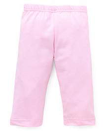 Red Ring Three Forth Leggings - Light Pink