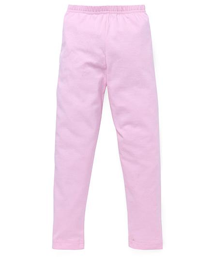 Red Ring Full Length Leggings - Light Pink
