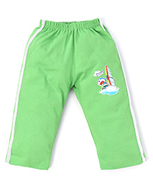 Doraemon Full Length Track Pants - Green