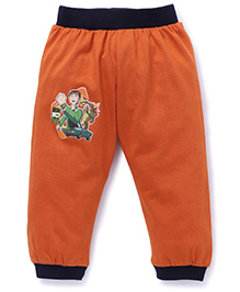 Red Ring Full Length Track Pants Ben 10 Print - Dark Orange