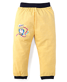 Red Ring Doraemon Print Track Pant - Yellow And Black