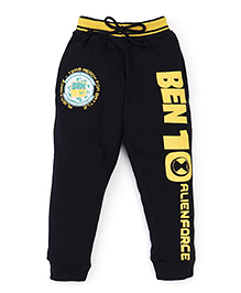 Red Ring Track Pant Ben 10 Print - Black And Yellow