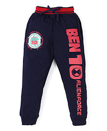 Red Ring Track Pant Ben 10 Print - Navy And Red