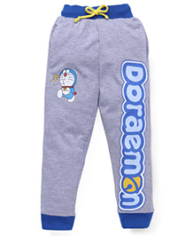 Red Ring Track Pant Doraemon Print - Grey And Blue
