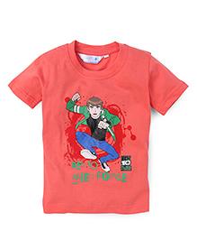 Ben 10 Half Sleeves Printed T-Shirt - Peach