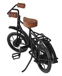 Desi Karigar Decorative Miniature Metal & Wood Bicycle - Black & Brown