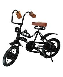 Desi Karigar Wooden & Iron Cycle - Black & Brown
