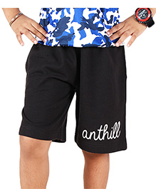 Anthill Terry Lycra Shorts - Black