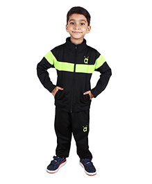 Anthill Active Track Suit Set - Black & Neon Green