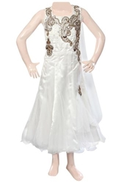 Sleeveless Party Frock - White