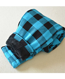 Tickles 4 U Checkered Warm Pants - Blue