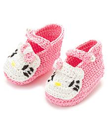 Funkrafts Crochet Kitten Booties - Pink