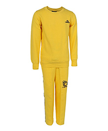 Haig-Dot Full Sleeves Fleece Track Suit - Yellow