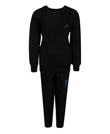 Haig-Dot Full Sleeves Fleece Track Suit - Black