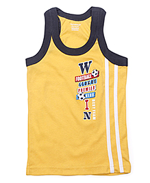 Cucumber Sleeveless Vest Win Print - Yellow