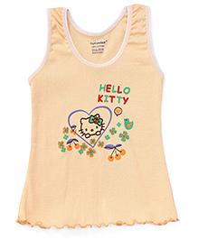 Cucumber Sleeveless Slip Hello Kitty Print - Peach