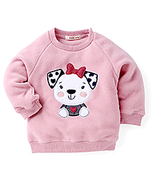 Fox Baby Winter Wear T-Shirt With Cute Teddy Design - Pink