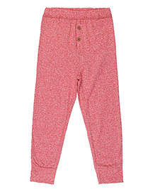 Brown Boy Mini Organic Cotton Comfortable Joggers - Dark Pink