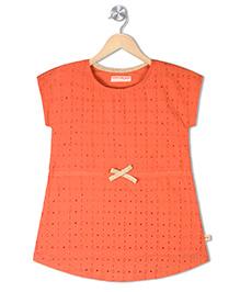 Raine And Jaine Girls Dress - Orange