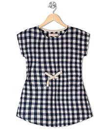 Raine And Jaine Girls Dress - Navy Blue & White