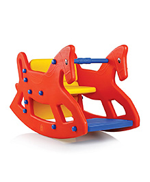 OK Play ROXY 2-IN-1 Rocking Horse Cum Chair - Red Yellow