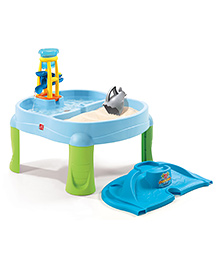 Step2 Splash & Scoop Bay Sandbox - Blue Green
