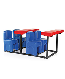 OK Play Fabulous Four Table Chair Set - Blue Red